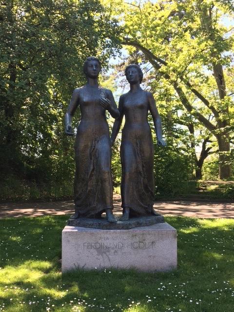 En hommage à Ferdinand Hodler à la Promenade du Pin-1958