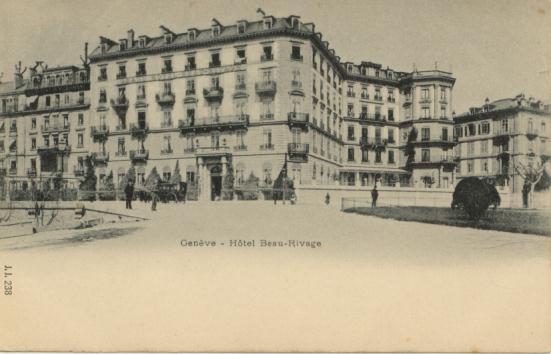 Autrefois,Le Beau-Rivage à Genève
