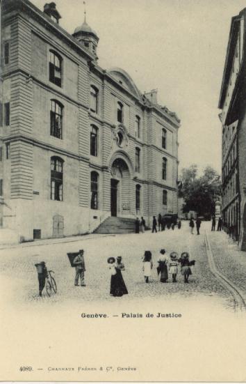 Autrefois, le Palais de justice©CP-GECH