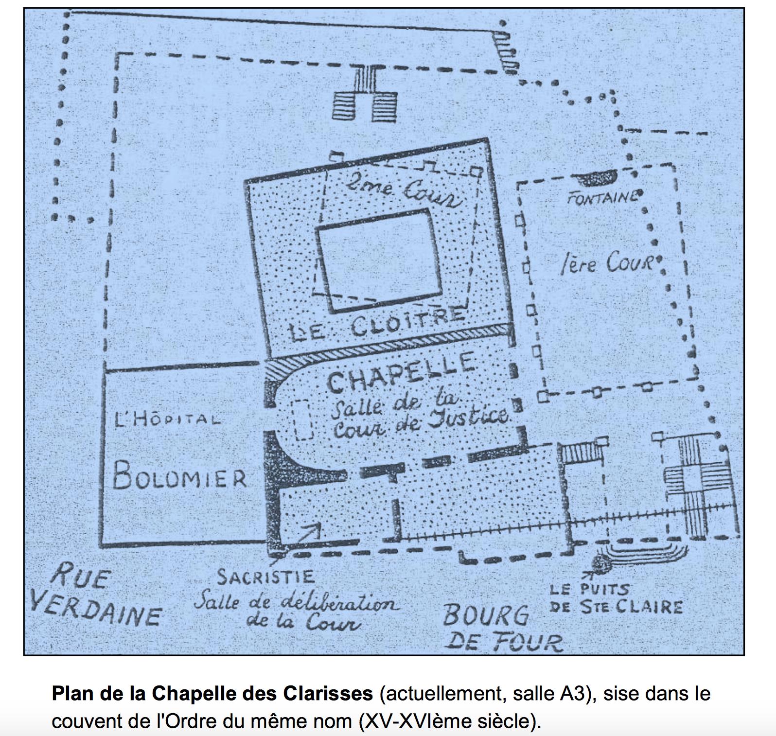 Plan de la Chapelle des Clarisses